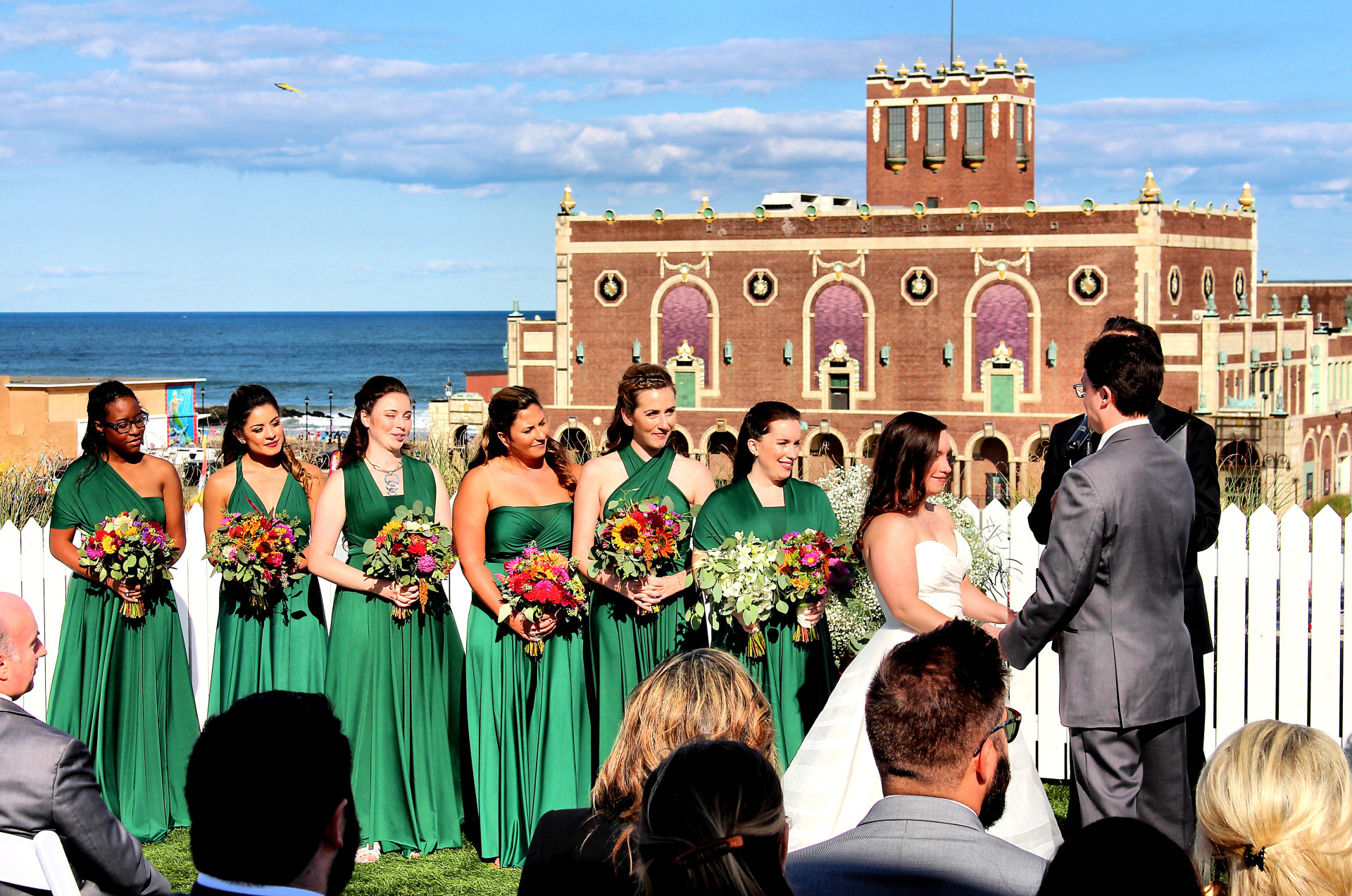 Rooftop Wedding Ceremony Asbury Hotel
