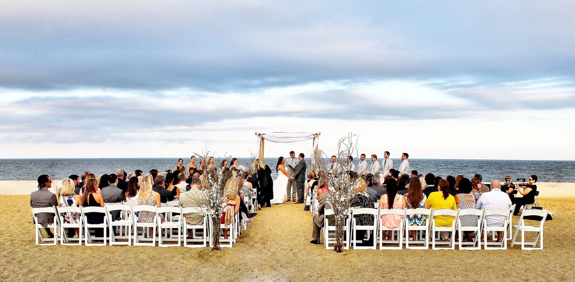 Beach Wedding Ceremony at Ocean Place Resort Long Branch NJ