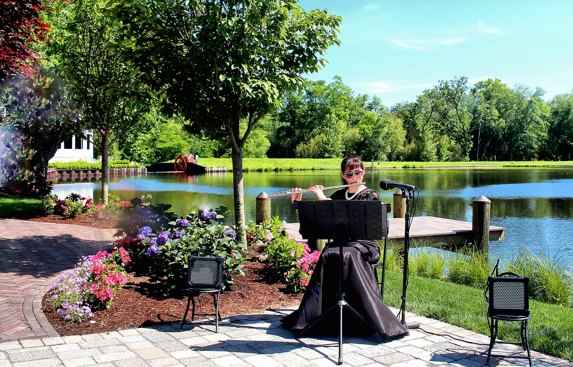 The Mill Lakeside Manor, Spring Lake Heights, NJ with Bridal Music Ceremony Musician Michele